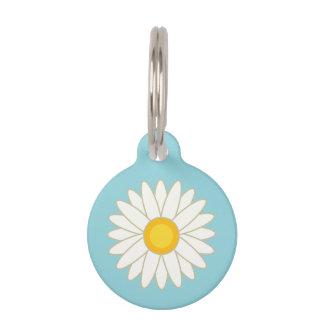 Big Cartoon Daisy Flower With Custom Info Pet ID Tag