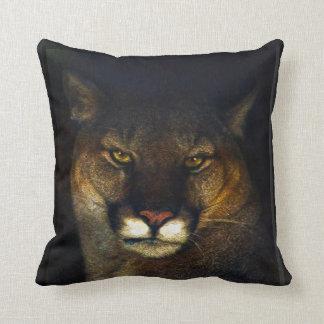 Big Cat Cougar Mountain Lion Art Design Throw Pillow