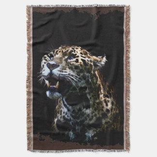 Big Cat Jaguar Spotted Panther Wildlife Throw Blanket