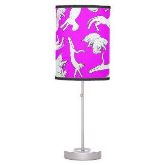 Big Cat Nap Table Lamp (Fuchsia)