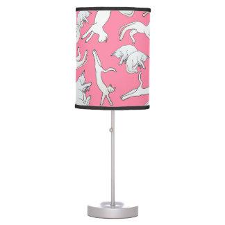 Big Cat Nap Table Lamp (Pink)
