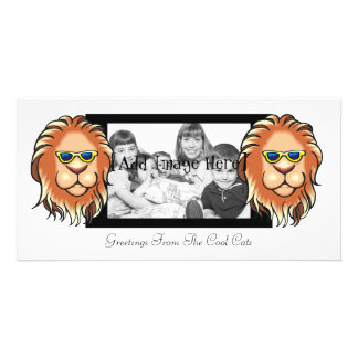 Big Cat Personalized Photo Card