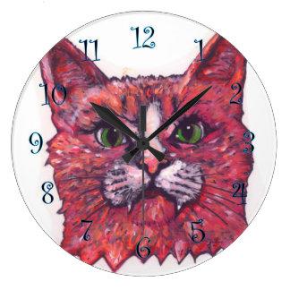 Big Catface Large Clock