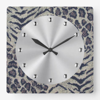 Big Cats Square Wall Clock