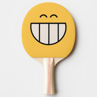 Big Cheesy Grin Smiley Table Tennis Racket Ping Pong Paddle