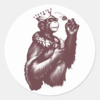 Big Chimpin' (Monochrome) Classic Round Sticker
