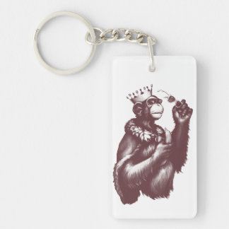 Big Chimpin' (Monochrome) Keychain