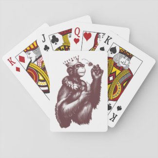 Big Chimpin' (Monochrome) Playing Cards