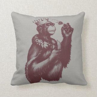 Big Chimpin' (Monochrome) Throw Pillow