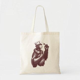 Big Chimpin' (Monochrome) Tote Bag