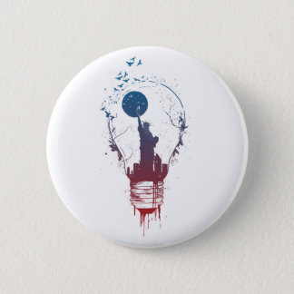 Big city lights II 2 Inch Round Button