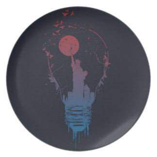 Big city lights II (dark) Plate