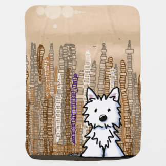Big City Westie Baby Blanket