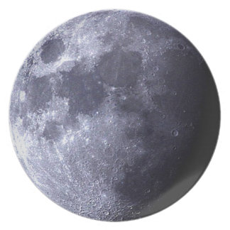 Big close up of The Moon  - Earth's Satelite - Plates