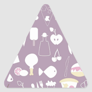 big collection of food triangle sticker