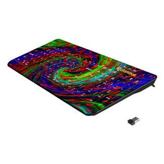Big color swirl wireless keyboard