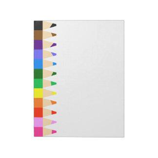Big Colored Pencils Notepad