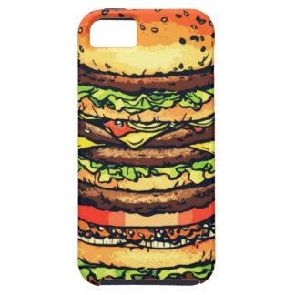 Big, colorful hamburger iPhone 5 cover