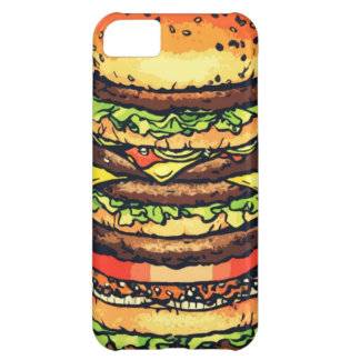 Big, colorful hamburger iPhone 5C covers