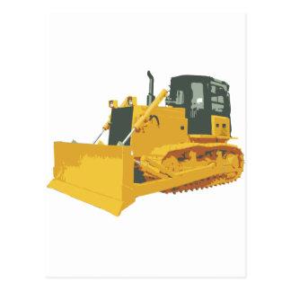 Big Construction Bulldozer on Tracks Postcard