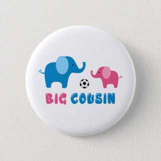 Big Cousin Elephant soccer 2 Inch Round Button