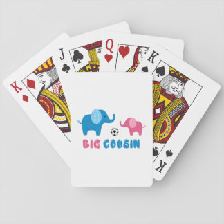 Big Cousin Elephant soccer Playing Cards