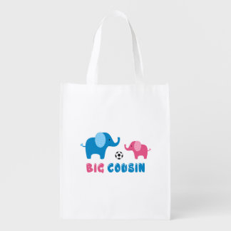 Big Cousin Elephant soccer Reusable Grocery Bag