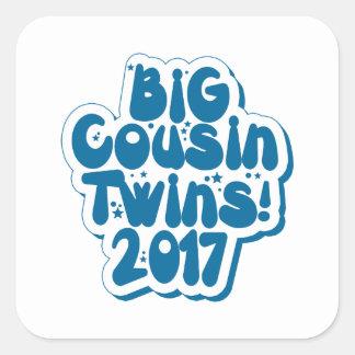 Big Cousin Of Twins 2017 Square Sticker