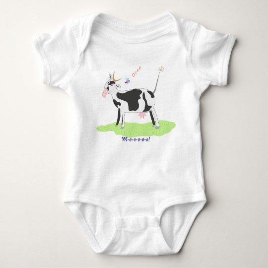 Big Cow And Dzzz Baby Bobysuit Baby Bodysuit