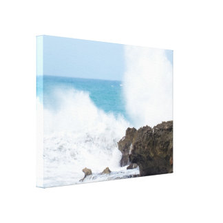Big Crashing Waves | Atlantic Ocean Canvas Print