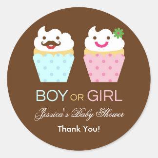 Big Cupcake Baby Shower Sticker