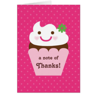 Big Cupcake Baby Shower Thank You Card