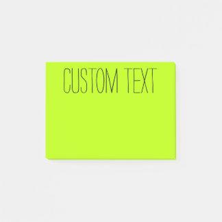 Big Custom Text | Light Green Post-it Notes