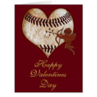 BIG Customizable Vintage Baseball Valentine Cards