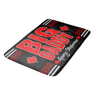 Big Daddy Canadian Maple (Your Name) on Black Bath Mat