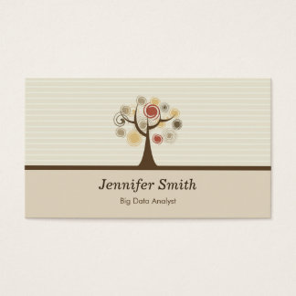 Big Data Analyst - Elegant Natural Theme Business Card