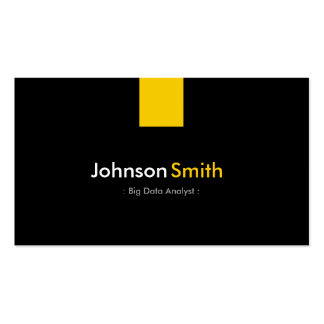 Big Data Analyst - Modern Amber Yellow Pack Of Standard Business Cards