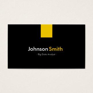 Big Data Analyst - Modern Amber Yellow Business Card