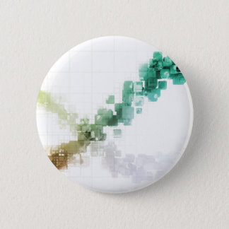 Big Data Visualization Analytics Technology 2 Inch Round Button