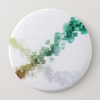 Big Data Visualization Analytics Technology 4 Inch Round Button