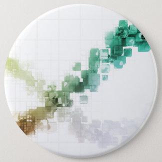 Big Data Visualization Analytics Technology 6 Inch Round Button