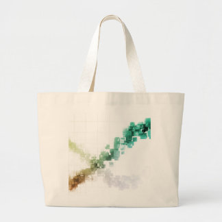 Big Data Visualization Analytics Technology Large Tote Bag