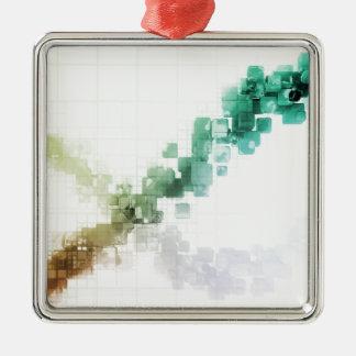 Big Data Visualization Analytics Technology Metal Ornament