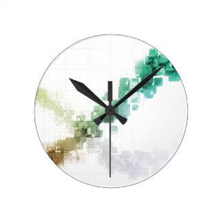Big Data Visualization Analytics Technology Round Clock