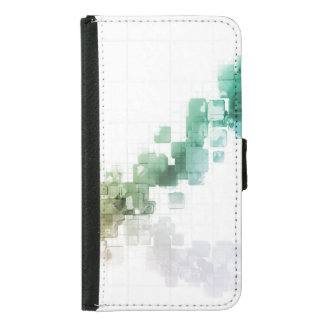Big Data Visualization Analytics Technology Samsung Galaxy S5 Wallet Case