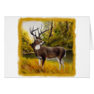 Big Deer standing in grove on customizable product Card