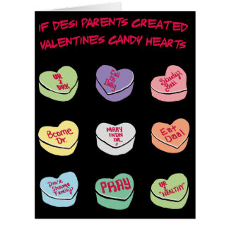 BIG Desi Conversation Candy Hearts Card
