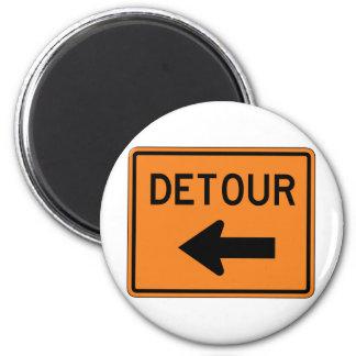 Big Detour Left Street Sign Magnet
