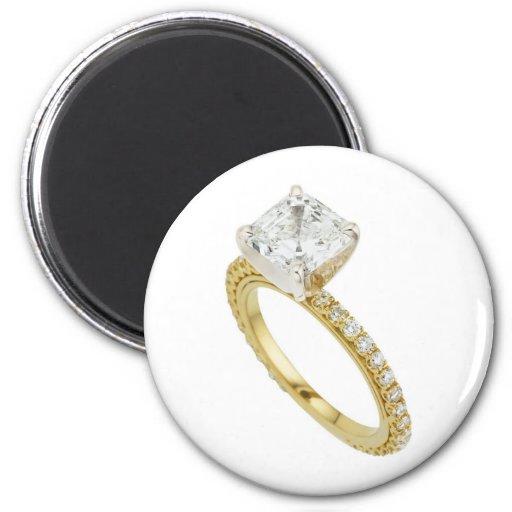Big Diamond Engagement Ring Hint Hint Magnet