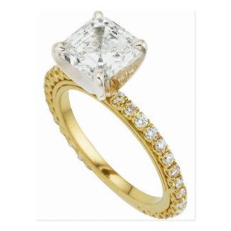 Big Diamond Engagement Ring Hint Hint Postcard